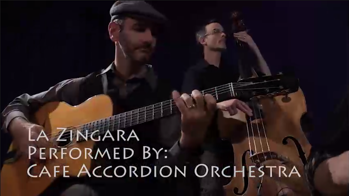 Video Thumbnail - Cafe Accordion Orchestra - La Zingara